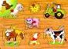 """Деревянная развивающая игра-пазл """"Домашние животные"""" для детей от 2 лет ТМ """"Игрушки из дерева"""" Р 12"""