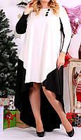 """ПП Украина Стильное платье  большого и маленького размера """"Санти"""" от 46 до 74 размер"""
