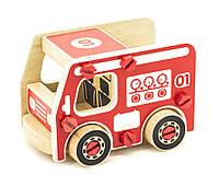 """Деревянный конструктор """"Пожарная машина"""" для мальчиков от 3 лет ТМ """"Игрушки из дерева"""" Д430"""