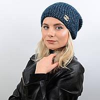 Шапка Эмили 17002 синий-меланж