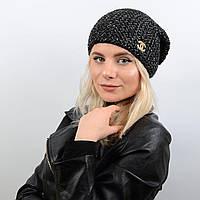 Шапка Эмили 17002 черный-меланж