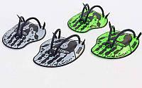 Лопатки для плавания гребные ARENA AR-95232-15-M VORTEX EVOLUTION (TPR, силикон, р-р М, черно-серые)
