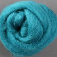 Пряжа для валяния 26-29 микрон (цвет: бирюзовый)