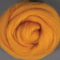 Пряжа для валяния 26-29 микрон (цвет: желтый)