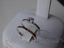 Хит! Серебряное дизайнерское кольцо с золотой пластиной на фалангу пальца