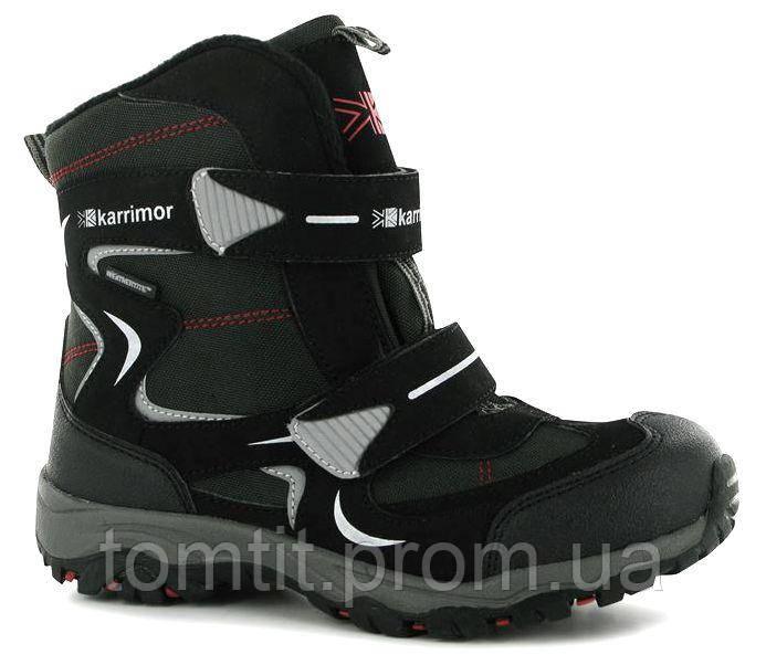 Фирменные термоботинки, Karrimor, оригинал, цвет черный, размер 37