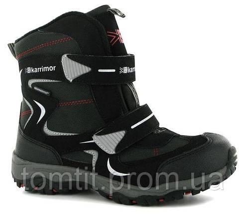 Термо - ботинки Karrimor, оригинал, 39 размер, стелька 25,5 см, черный, для мальчика подростка, фото 2