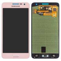 Дисплей для мобильных телефонов Samsung A300F Galaxy A3, A300H Galaxy A3; Samsung, розовый, с сенсорным экраном, original, #GH97-16747E