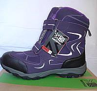 Фирменные термоботинки, Karrimor, оригинал, цвет фиолетовый, размер 38