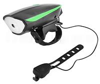 Велосипедный звонок + велофара 7588, выносная кнопка, ЗУ micro USB LO