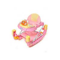 Ходунки с качалкой TILLY T-444 (6220) Pink KK