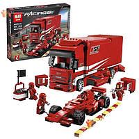 Конструктор lepin 21022 - аналог lego 8185 racers грузовик ferrari kk