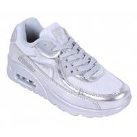 11-21 Серебристые спортивные женские кроссовки rapter Malina