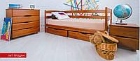 """Кровать детская """"Ева"""" 70х140 см. Бук щит, С ящиками, Цвет на выбор"""