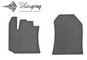 Renault Dokker 2012- Комплект из 2-х ковриков Черный в салон