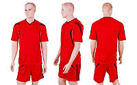 Футбольная форма Burst CO-3116-R(XXL) (полиэстер,р-р 2XL-52-54, красный, шорты красные), фото 1