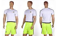 Форма футбольная детская REAL MADRID CO-3900-RMAD-2(L) (PL, р-р L-145-155см(28), бел-салат)