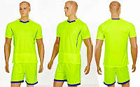 Футбольная форма Grapple CO-7055-LG салатовый-синий, шорты салатовые)