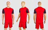 Футбольная форма Height CO-1014-R (PL, р-р M-3XL-44-52, рост 165-185см, красный-черный, шорты красны, фото 1