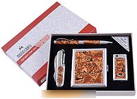Подарочный набор ручка/нож/зажигалка/портсигар №YJ-6333 SO