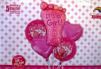 Набор шаров фольгированных It's a girl