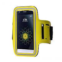 """Спортивный чехол на руку для смартфонов 5"""" дюймов Sport Armband желтый, фото 1"""