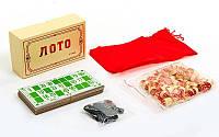 Лото настольная игра в цветной картонной коробке E7708 (р-р коробки 17,5x10x5,5см )