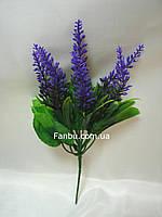 Фиолетовое соцветие 27см, искусственный куст, фото 1