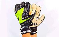Перчатки вратарские FB-812-3(9) REUSCH (PVC, р-р 9, черный-салатовый-белый), фото 1