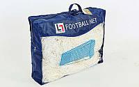 Сетка на ворота футбольные тренировочная безузловая (2шт) С-4947 (PP 2,5мм, яч. 8см, PVC чехол), фото 1