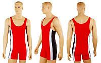 Трико для борьбы и тяжелой атлетики, пауэрлифтинга UR RG-4262-R(44) красный (бифлекс, р-р RUS-44)