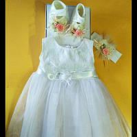 Нарядное платье для девочки 80-92