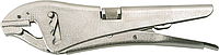 Клещи зажимные, 225 мм, прямые губки, TOPEX