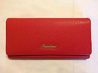 Женский красный бескаркасный кошелёк