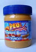 "Арахисовое масло Peo Peanut Butter - crunchy ""Паста с кусочками арахиса"" 340 гр., Германия, фото 1"