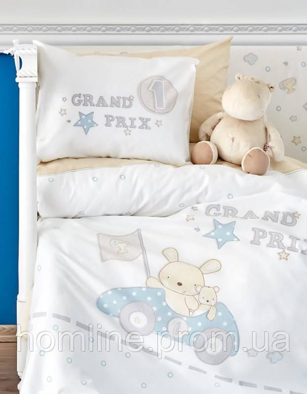 Постельное белье для младенцев Karaca Home ранфорс Champion голубое