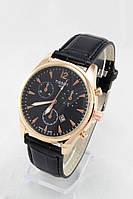 Мужские наручные часы (черный циферблат, черный ремешок) , фото 1