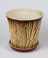 Цветочный горшок Бамбук в ассортименте 8 л