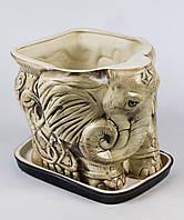 Цветочный горшок Слон средний в ассортименте 8 л