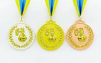 Медаль спортивная с лентой двухцветная d-6,5см Волейбол C-4850-2 место (металл, покрытие 2 тона,56g)