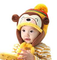Детская зимняя теплая шапочка