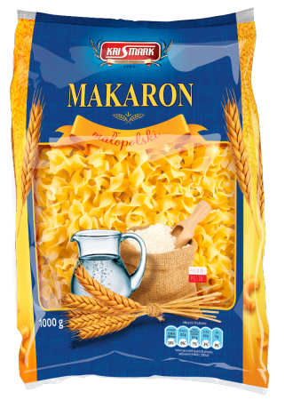 Макароны malopolski KriSmark Wtążka falowana 10 mm (крисмарк малопольски) 1000 г.