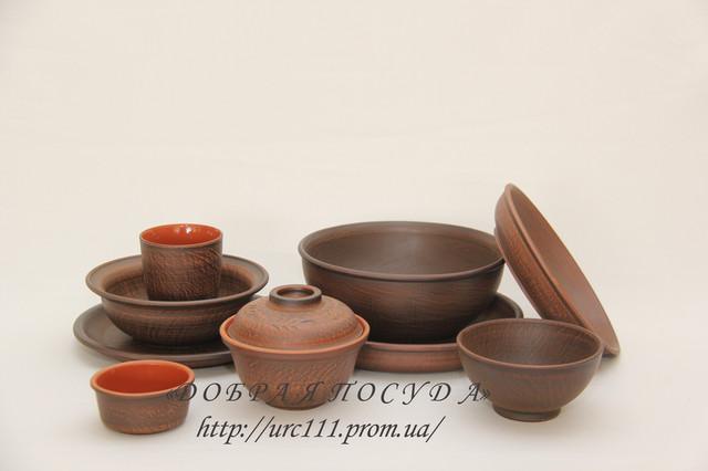 Посуда из красной глины (серия LUX)
