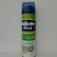 Гель для бритья мужской Gillette Blue sensitive (Жиллетт Сенсетив) 200 мл.