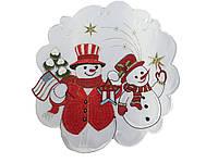 Рождественская салфетка диаметр 30 см