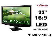 """Монитор 22"""" ViewSonic VA2248-LED 16:9 1920 x 1080 (к.3687)"""