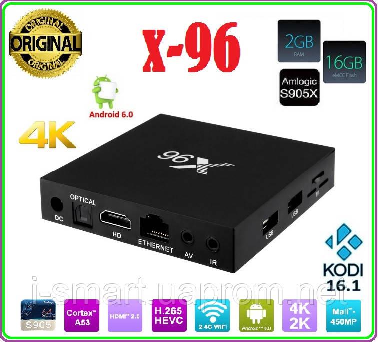 X96 Android 6.0 TV Box Amlogic S905X  2  / 16 ГБ  Quad Core WI-FI HDMI 4 К  HD Smart