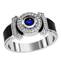 Кольцо мужское серебряное Центурион  700570