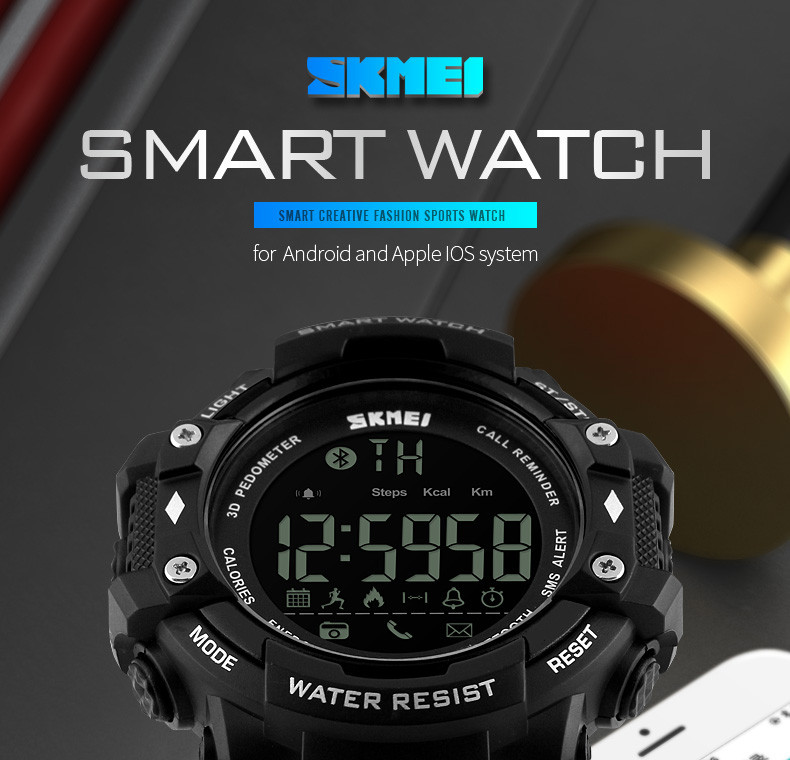 Часы с Smart Bluetooth - SKMEI 1227 (5 bar) black, фото 1