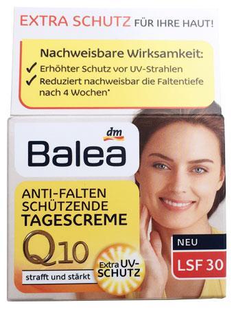 Крем для лица Balea Q10 дневной против морщин LSF 30 50мл